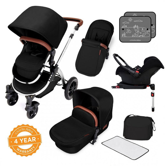 Ickle Bubba Stomp V4 All in One Isofix Travel System in Midnight Chrome