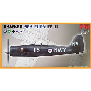 PM MODELS PM-211 HAWKER SEA FURY FB11  1/72 SCALE