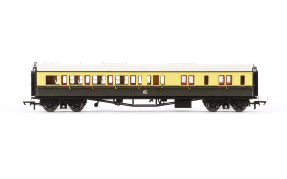 Hornby R4682A GWR  Collett 'Bow Ended' Corridor Composite (L/H)  6528 - Era 3
