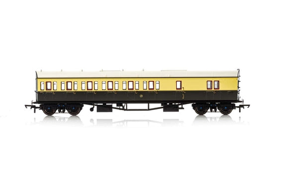 Hornby R4876 GWR  Collett 57' Bow Ended D98 Six Compartment Brake Third (Left Hand)  4971 - Era 3