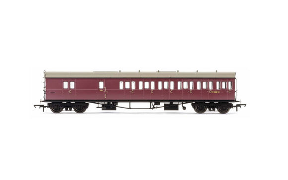 Hornby R4881 BR  Collett 57' Bow Ended D98 Six Compartment Brake Third (Right Hand)  W5508W - Era 4