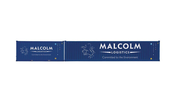 Hornby R6999 Malcolm Logistics  Container Pack  1 x 40' and 1 x 20' Containers - Era 11