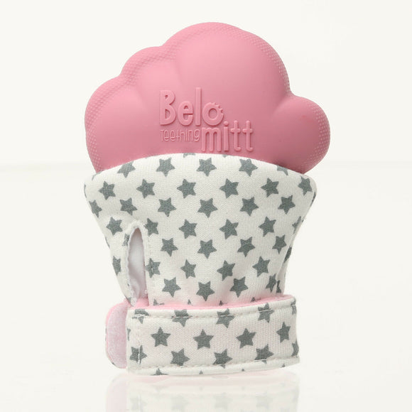 Belo & Me Teething Mitt for Babies Pink Mitten