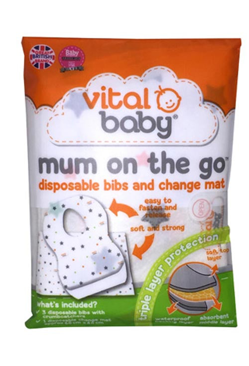 Vital Baby Disposible Bibs & Changing Mat