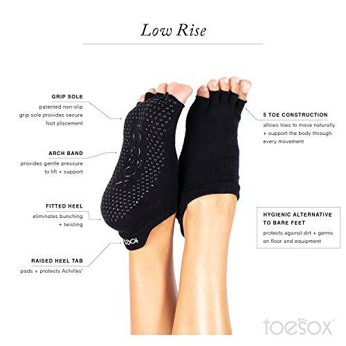 ToeSox - Half Toe Low Rise Grip Socks