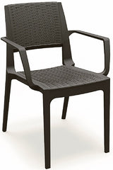 Compamia Capri Resin Wickerlook Outdoor Arm Chair (Set of 2)