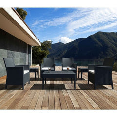Compamia California Wickerlook Resin Patio Seating Set 7 Piece