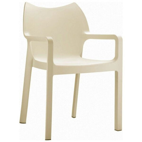 Compamia Diva Resin Outdoor Dining Arm Chair (Set of 4)