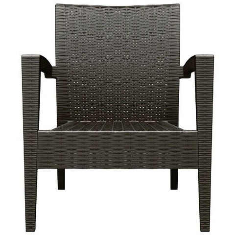 Compamia Miami Resin Wickerlook Patio Club Chair (Set of 2)