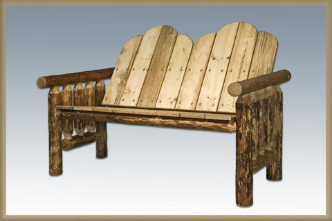 Glacier Country Log Deck Bench - Exterior Finish