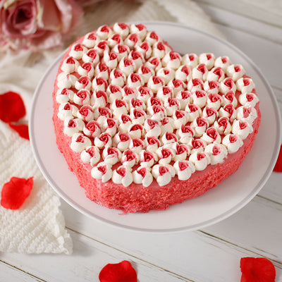 Strawberry Heart Cake - Trident Food