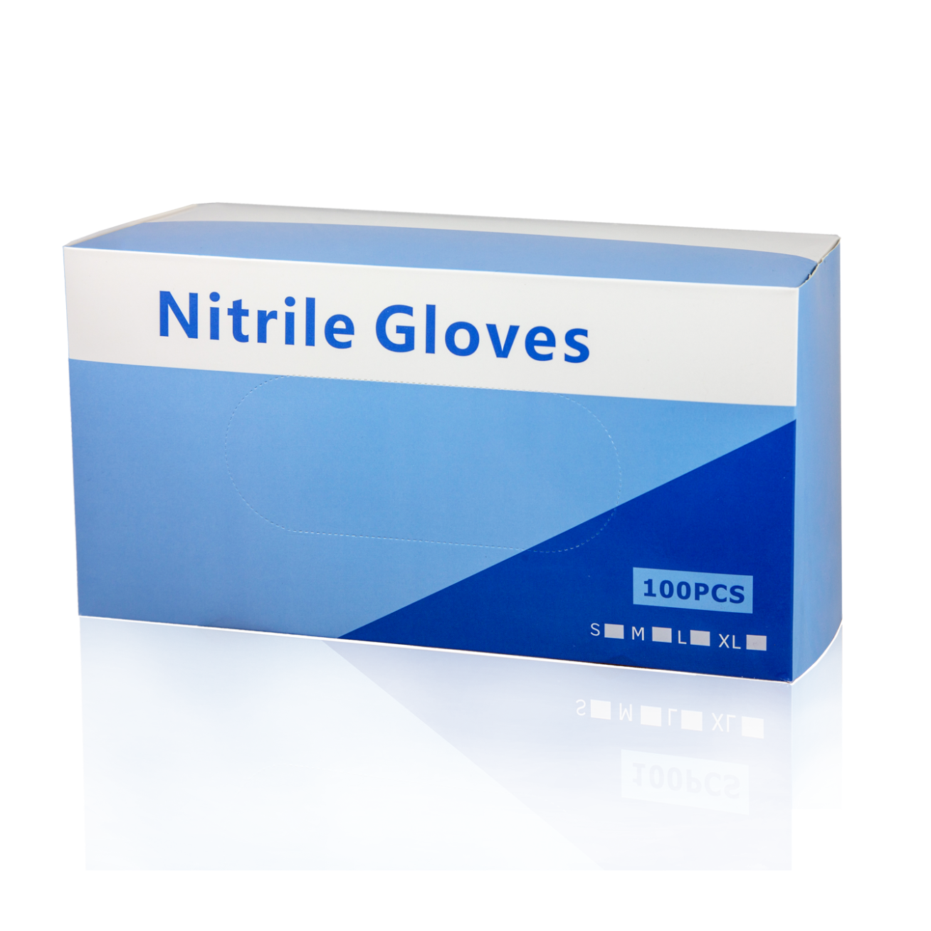 No Brand non-Medical Nitrile Gloves - Pack of 100