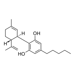 Chemical Structure of Cannabidiol