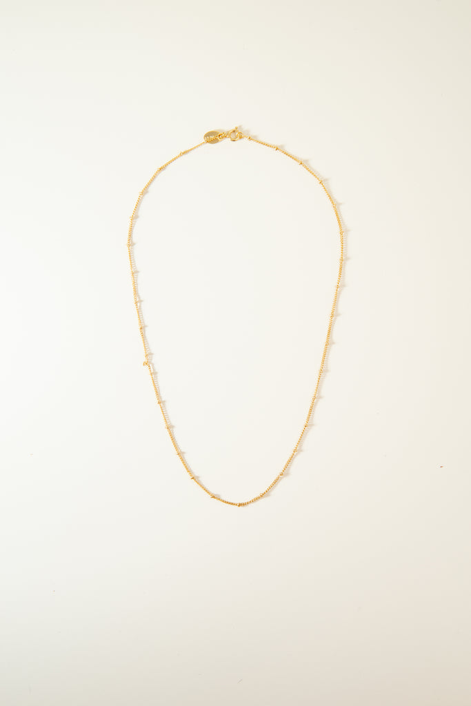 Beaded Gold Chain