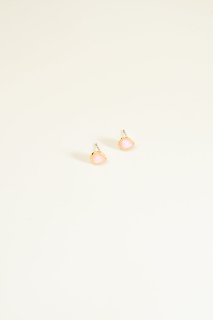 Tear Drop Stone Earrings