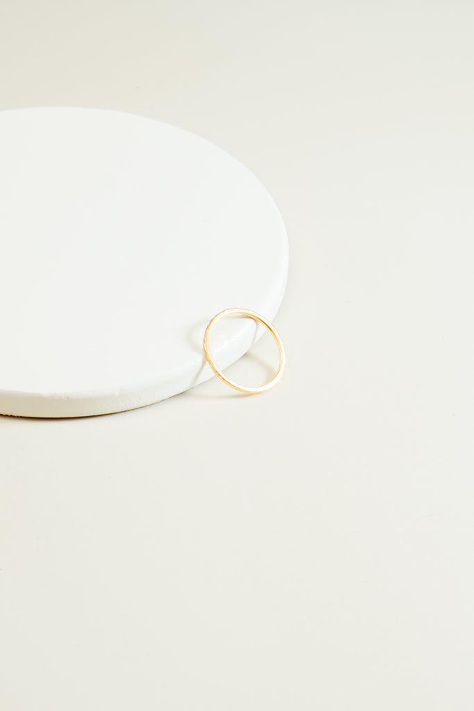 Riley Single Textured Ring