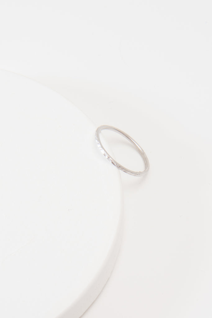 Dainty Single Textured Ring