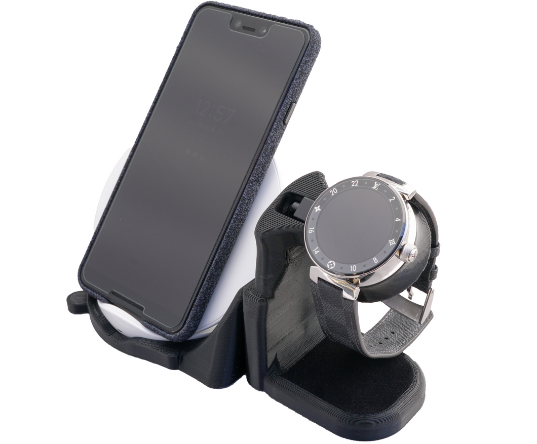 Artifex Design Stand Configured for Louis Vuitton Tambour Horizon Smartwatch Wireless Combo Stand - Artifex Design 3D