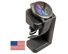Load image into Gallery viewer, Artifex Design Stand Configured for Garmin Venu, Charging Stand (Black) - Artifex Design 3D
