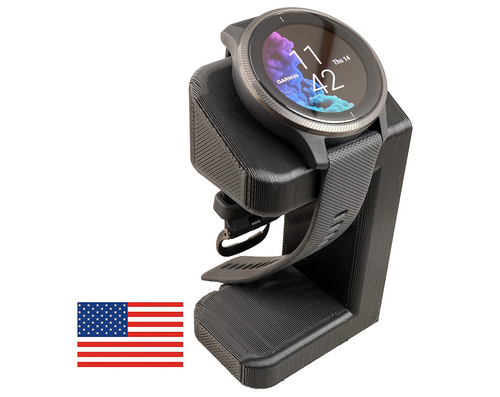 Artifex Design Stand Configured for Garmin Venu, Charging Stand (Black) - Artifex Design 3D