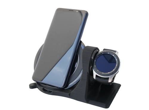 Artifex Design Stand Configured for Samsung Gear S3, Gear Sport, Galaxy Watch, 2016 Wireless Combo - Artifex Design 3D