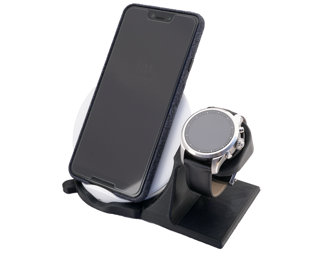 Artifex Design Stand Configured for MontBlanc Summit 2 Smartwatch Charging Stand Wireless Combo - Artifex Design 3D