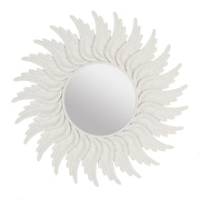 Round White Angel Wing Mirror