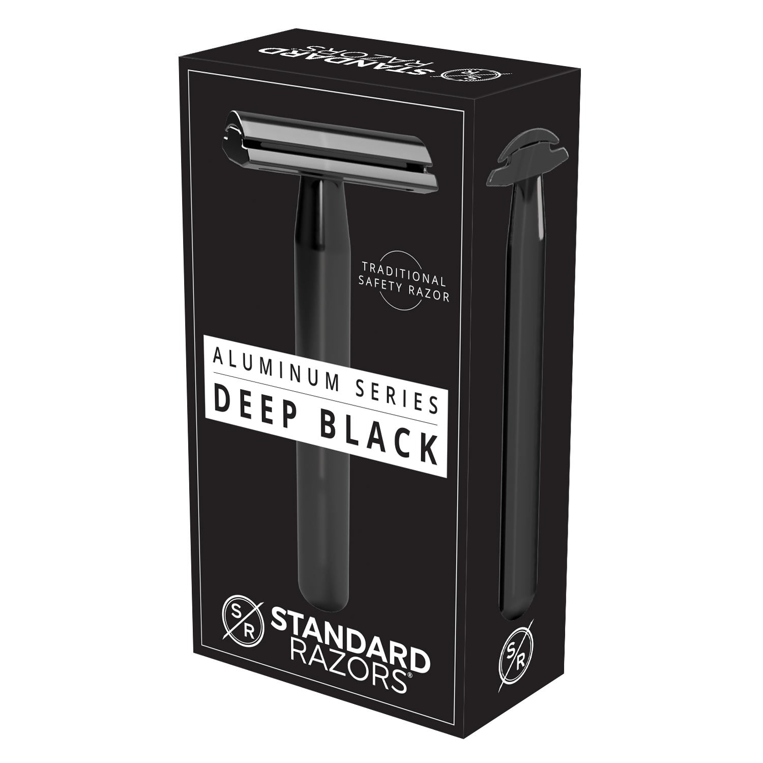 Standard Razors - Aluminum Series - Double Edge Safety Razor (Deep Black)