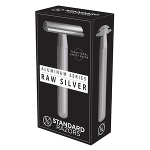 Standard Razors - Aluminum Series - Double Edge Safety Razor (Raw Silver)
