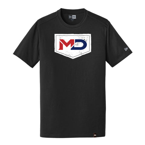 MD Sports Men's Black T-Shirt