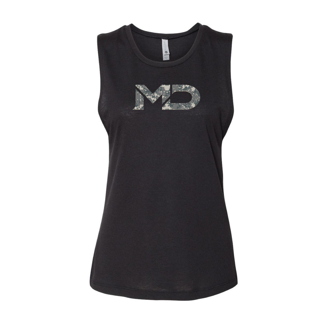 MD Ladies Camo Next Level Muscle Tee