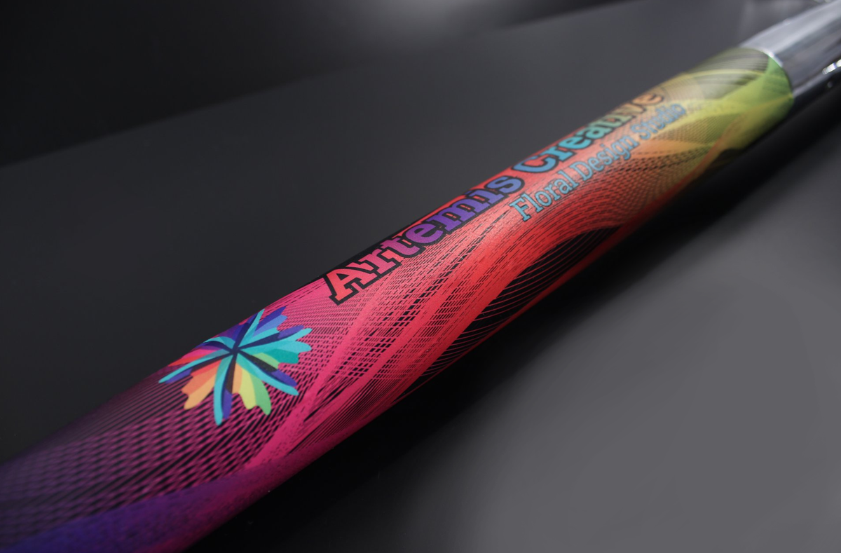 Full Color Printed Vinyl Wrapped Groundbreaking Shovel Handle