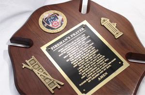 Fireman's Prayer Plaque