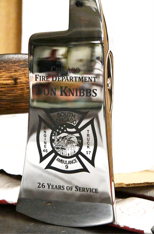 Custom Engraved Firefighter Axe Head
