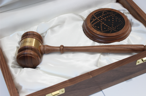 Engraved Wooden Gavel Set