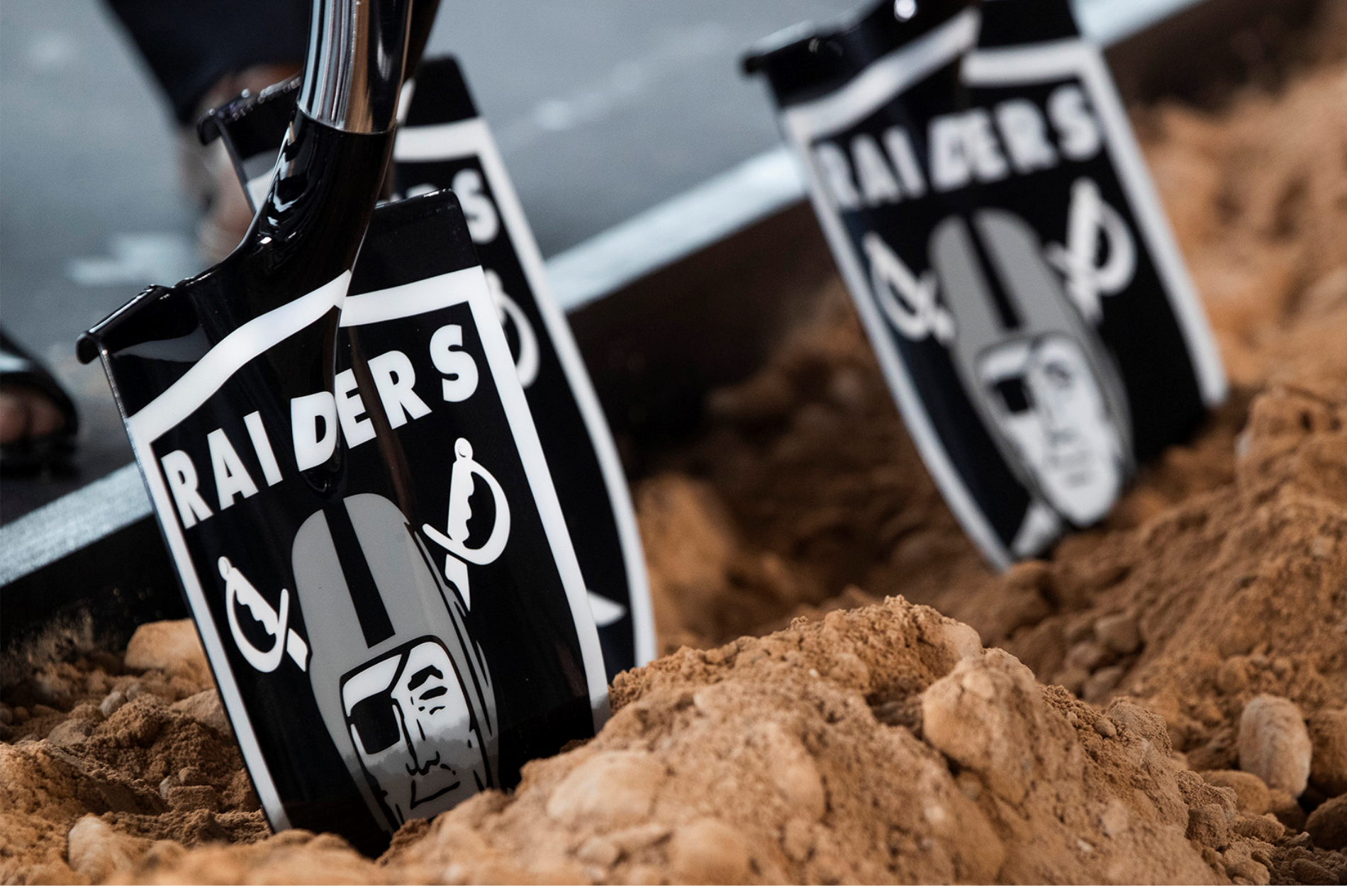 Las Vegas Raiders Custom Groundbreaking Shovel