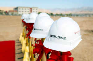 Burke Construction Groundbreaking Hard Hats
