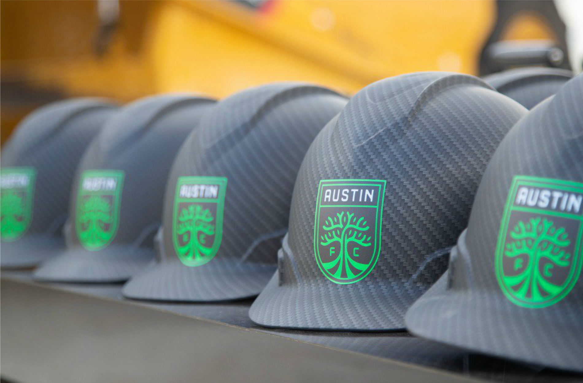 Black Austin FC Groundbreaking Hard Hat