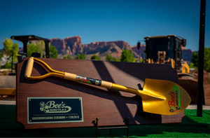 Bee's Marketplace Groundbreaking Shovel Plaque