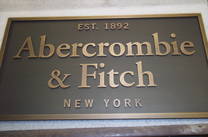 Abercrombie & Fitch Metal Plaque