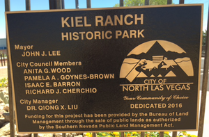 Kiel Ranch Historic Park Metal Plaque