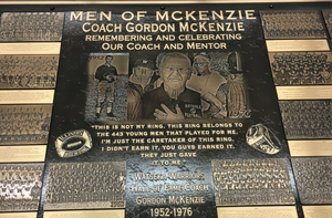 McKenzie Cast Bronze Metal Plaque