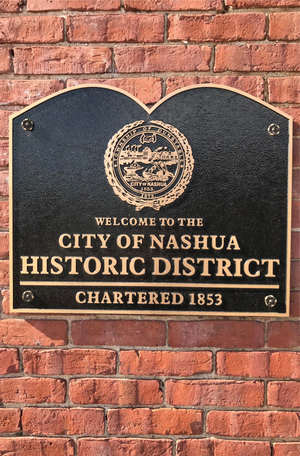 Nashua Historic District Metal Plaque