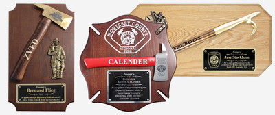 Small Firefighter Axe &  Pike Pole Plaques