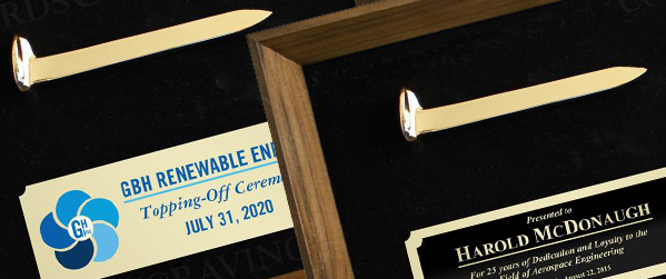 Ceremonial Spike Plaques & Awards