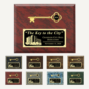 "10"" x 8"" Ceremonial Key Plaque"