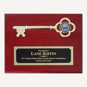 "10"" x 8"" Ceremonial Key Plaque - Rosewood"