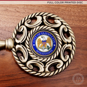 "12"" x 9"" Ceremonial Key Plaque with Full Color Printed Disc"