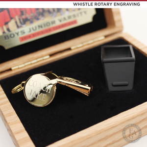 14 KT Gold Plated Whistle Award with Custom Coach Engraving
