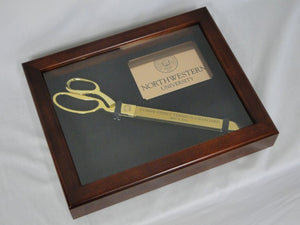 "Display Case for 15"" Gold Ceremonial Scissors"